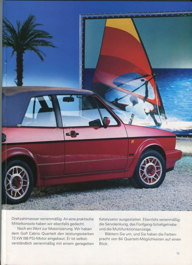 Le catalogue cabriolet quartett de janvier 1992 all for Chambre commerciale 13 octobre 1992